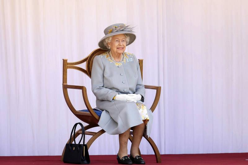 英國女王伊莉莎白二世12日度過95歲「官方生日」。(美聯社)
