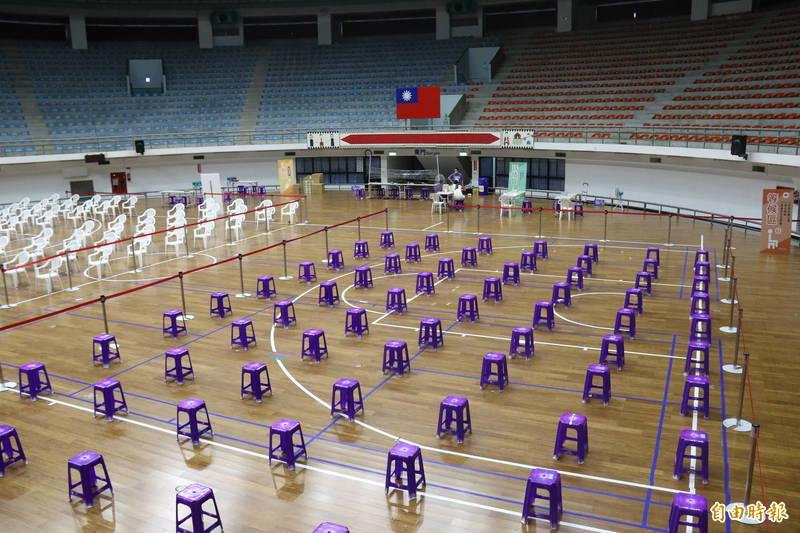 台東縣立體育館快打站。(記者黃明堂攝)
