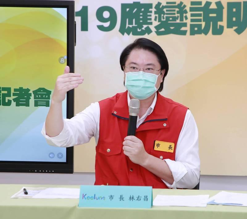 中央提早發放日本致贈我國的疫苗,台北市長質疑資訊不對等,基隆市長林右昌指出,他也是差不多時間知道,台北市長柯文哲不必有「被迫害妄想症」。(基隆市政府提供)