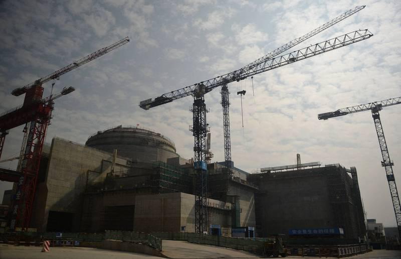 美媒爆廣東台山核電廠有輻射洩漏之虞,營運台山核電廠的中國廣核集團稱周邊環境指標正常。(法新社)