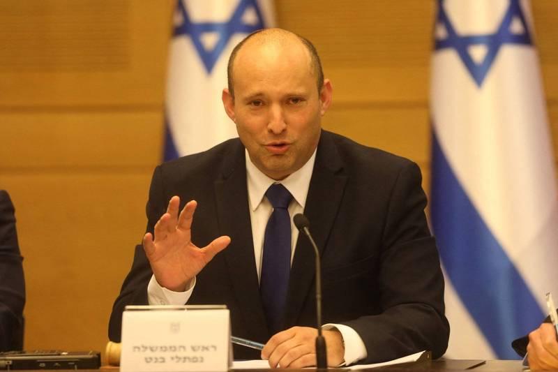 以色列右派領導人班奈特將宣誓成為總理。(法新社)