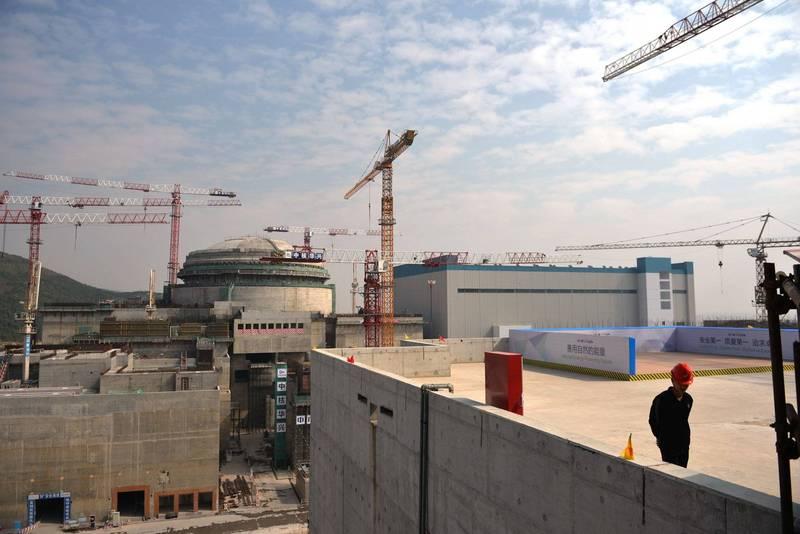 中法合作的中國廣東台山核電廠,被法國核反應爐廠商Framatome通報核洩露,指稱放射性威脅迫在眉睫,目前美國政府仍在評估中。(法新社)