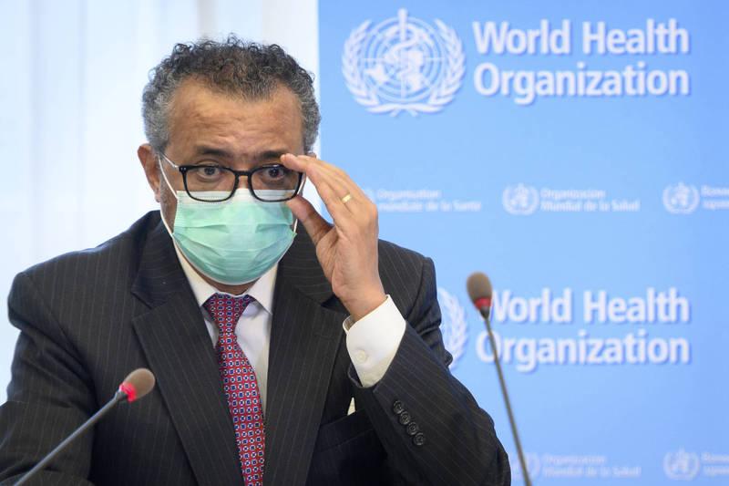 世衛祕書長譚德塞回應G7承諾提供10意劑疫苗一事。(美聯社資料照)