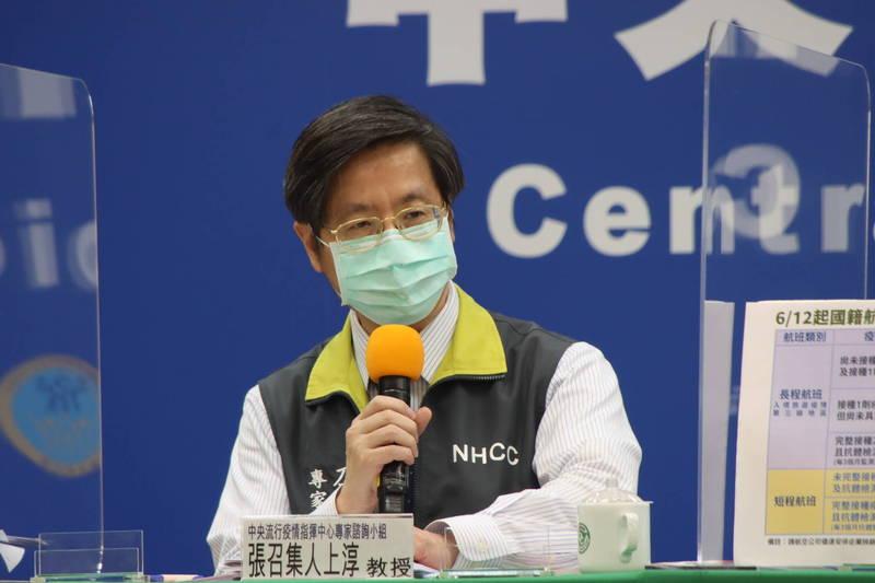 中央流行疫情指揮中心專家諮詢小組召集人張上淳表示,經過專家小組討論,隔離17天後,即使再次檢出陽性,也已不具傳染力,就當作是復陽,不必擔心接觸者會被感染。(圖由指揮中心提供)