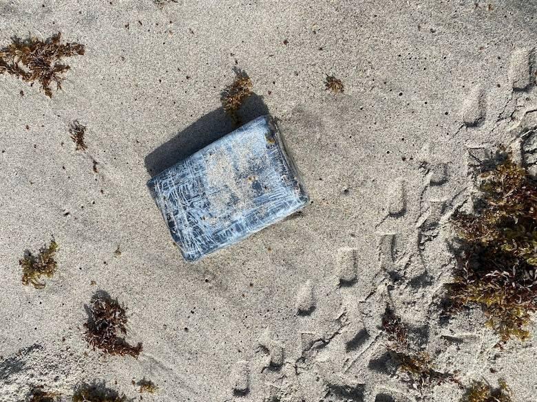 美國佛羅里達動物管理員錢伯斯檢查海龜巢穴時,意外發現被沖上岸的古柯鹼。(圖擷取自美國太空部門Space Launch Delta 45)