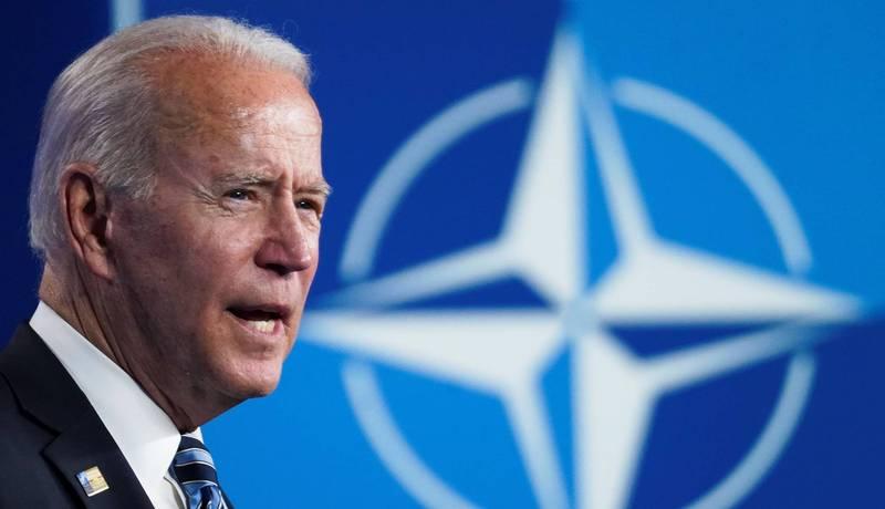 拜登在北約峰會上,忍不住批評前總統拜登與共和黨,踩了美國兩黨政治的紅線。(路透)