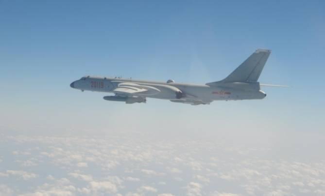 中共轟六轟炸機同型機(國防部提供)