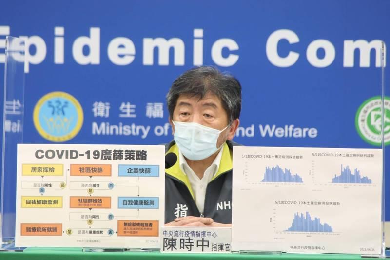 指揮中心指揮官陳時中表示,坦言近期有2處汙水測到病毒量,現正在分區檢測確認區域中,主要是大的出水口有,但小的還沒有測到。(圖由指揮中心提供)