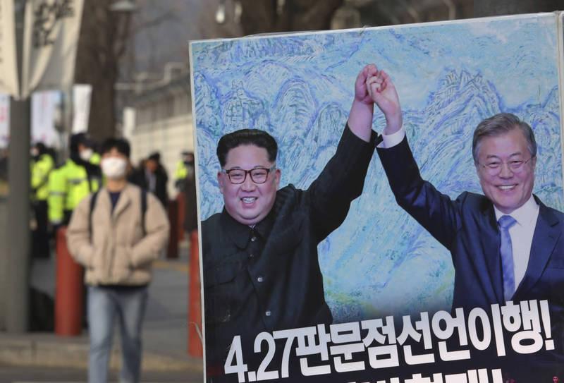 南韓國務總理金富謙有意從人道主義促進南、北韓對話,打破兩國長期僵局。示意圖。(美聯社)