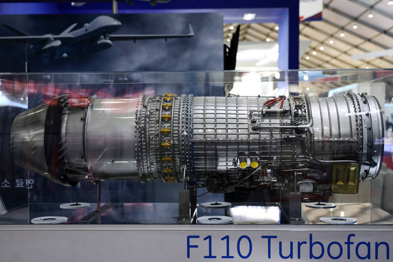 F110引擎。(彭博)