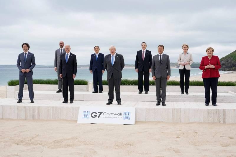 七大工業國集團(G7)領袖峰會13日閉幕,聯合公報中首度強調台灣海峽和平與穩定重要性。(法新社資料照)