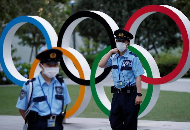 為降低大型賽事帶來的疫情風險,政治團體「都民第一會」發表聲明,希望東京奧運可以在無觀眾的情況下舉行。圖為東京奧運示意圖。(路透)