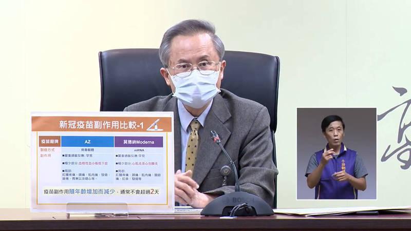 高醫院長鍾飲文清楚解說一般民眾對AZ疫苗的各種疑問。(翻攝高雄一百臉書)