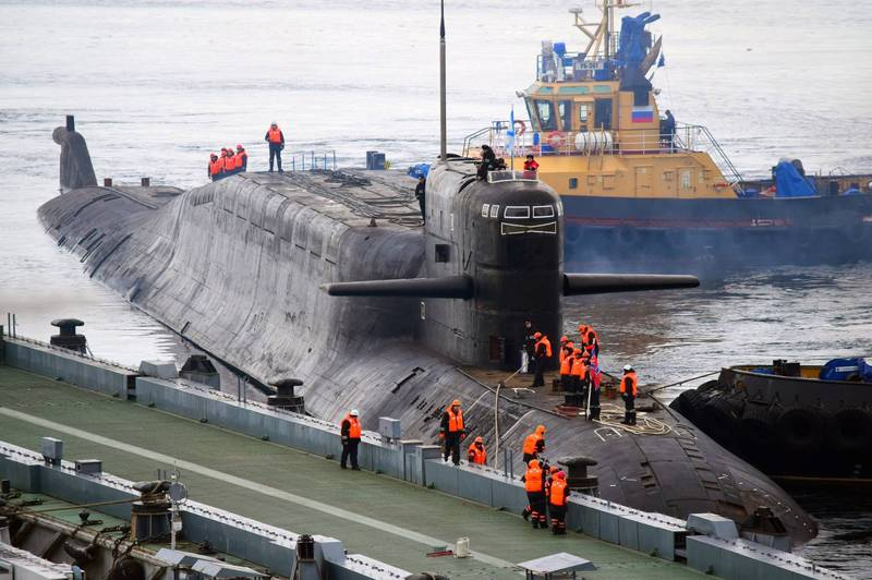 核動力潛艇「葉卡捷琳堡號」。(翻攝自推特)