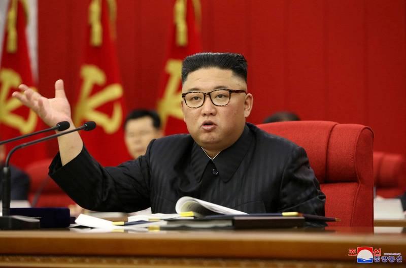 金正恩在北韓勞動黨第八屆三中全會中提糧荒問題,要求舉全國之力確保糧食生產。(路透)