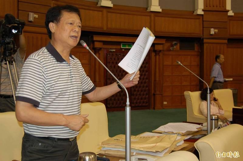 前台中市議員張立傑去世,享壽77歲。(資料照)