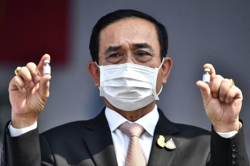 泰國總理帕拉育今天表示,自己生產疫苗是長期來說最佳的解決方式。(法新社)