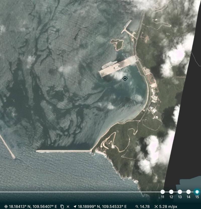 推特網友指出,共軍航艦山東號返回海南島母港。(圖擷取自推特)