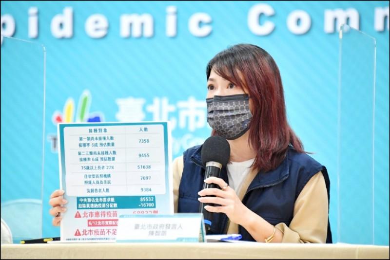 北市府發言人陳智菡表示,西園醫院逕自更改時程、還卸責北市府,嚴重誤導視聽。(北市府提供)