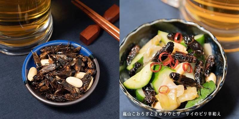 日本推出「麻辣蟋蟀乾」,並稱下酒、炒菜都美味。(翻攝自TAKEO官方網站)