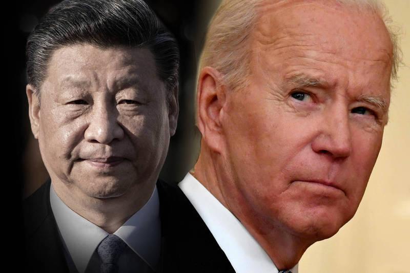 美國總統拜登(Joe Biden)說,中國國家主席習近平不是他的「老朋友」。(法新社,本報合成)