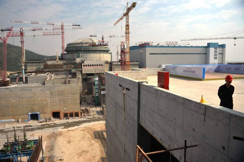 中國承認廣東省台山核電廠有燃料棒故障。(法新社)