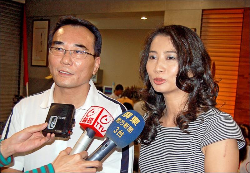 蔡豪(左),已和屏東縣議員宋麗華(右)離婚。(資料照,記者李立法)