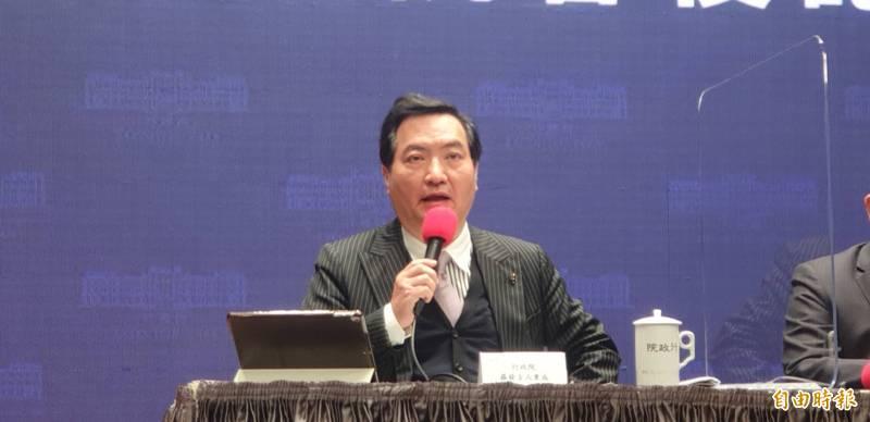 行政院發言人羅秉成將舉行記者會,回應鴻海創辦人郭台銘買疫苗相關議題。(資料照)