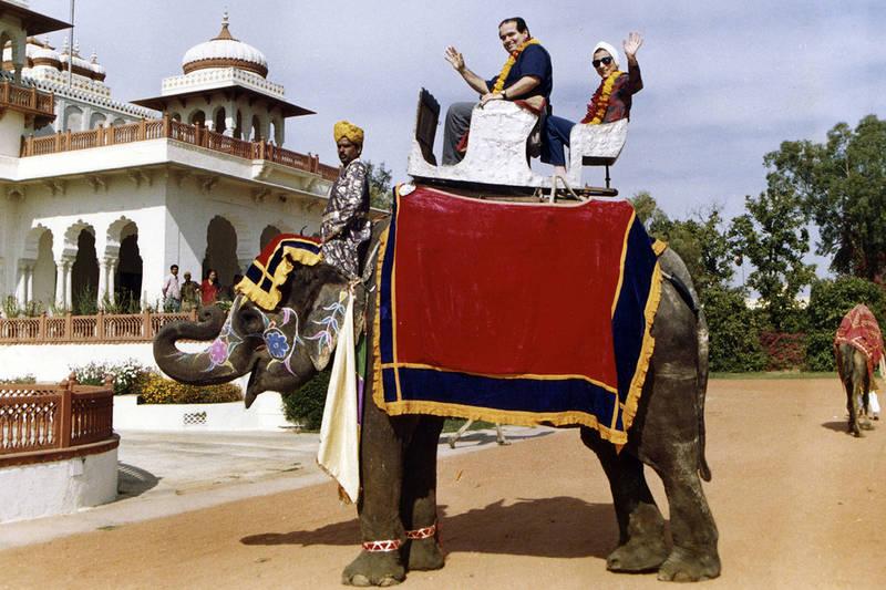 印度有大象因鞭炮聲收到驚嚇,大鬧婚禮現場,此為大象示意圖。(美聯社)