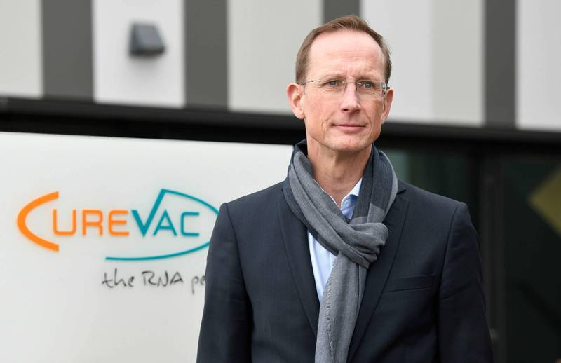 CureVac執行長哈斯認為外界只專注在疫苗的防護力數字本身,卻忽略了變種病毒已是主流的事實。(法新社資料照)