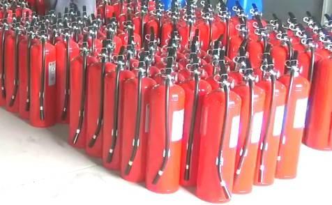 內政部消防署遭控放行內含重金屬的滅火器,還圖利特定滅火器回收廠商,消防署澄清,媒體報導與事實嚴重不符。(內政部消防署提供)