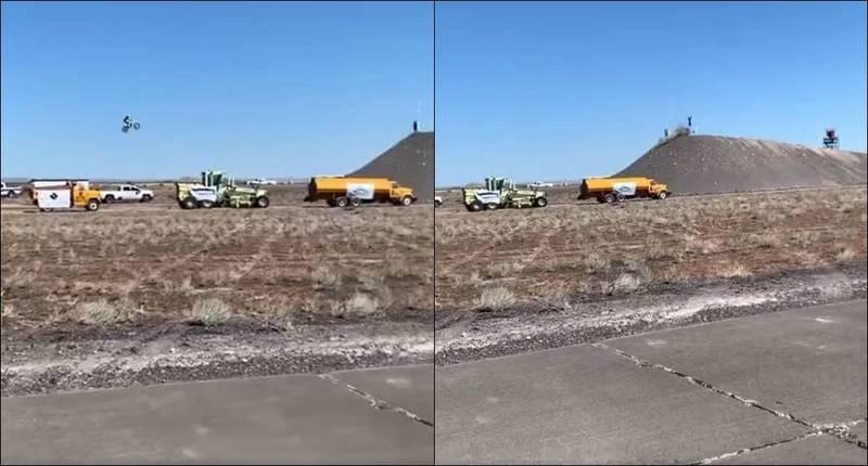 「最長的摩托車土丘坡道跳躍」金氏世界紀錄保持人「夜魔俠」哈維爾在練習時撞上土丘,送醫不治死亡。(圖取自Facebook)