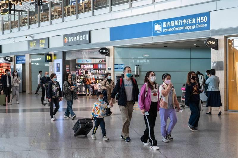 南韓31名旅客入境中國北京時,因應隔離檢疫被收走護照,沒想到護照全數被銷毀。北京機場示意圖。(彭博)