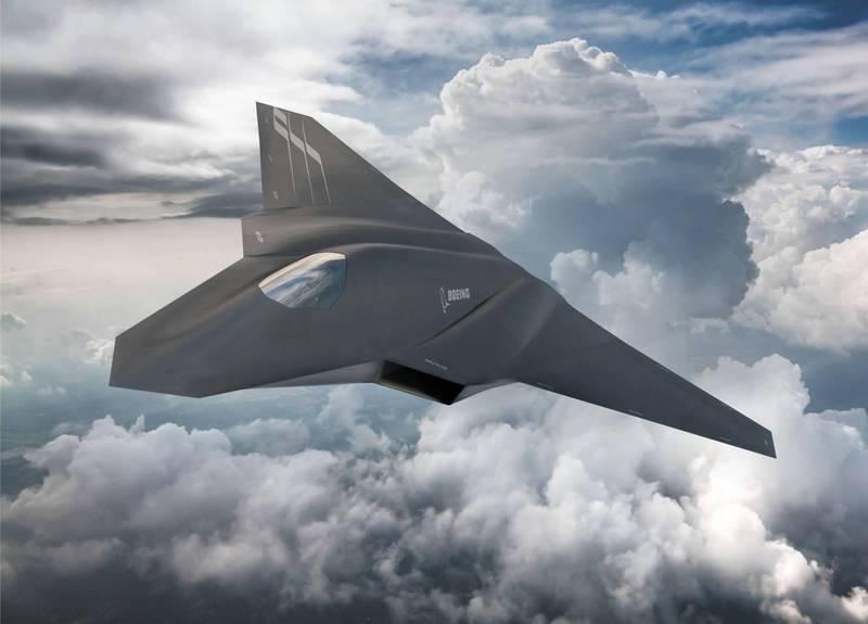 「下代空中優勢」戰鬥機的概念圖。(圖翻攝自TheDEWLine推特)