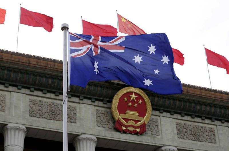 澳洲與中國關係持續緊張,但澳洲人仍希望政府對中國採取強硬態度。(路透資料照)