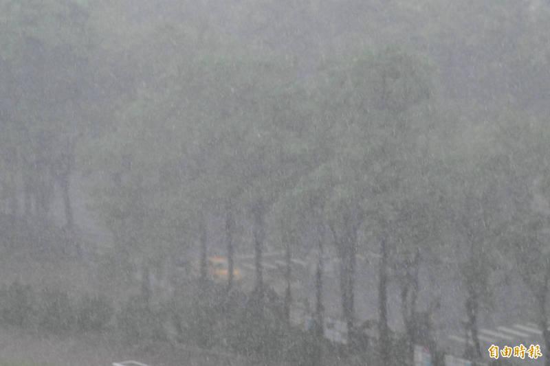 這幾天南台灣天氣仍是不穩定,民眾出門一定要攜帶雨具。 (記者張忠義攝)