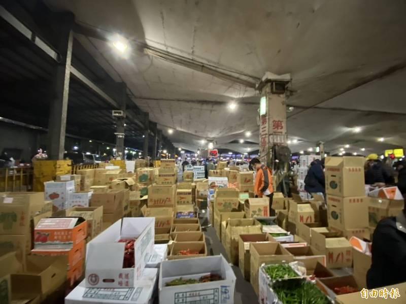 台北農產運銷公司爆群聚感染。(資料照)