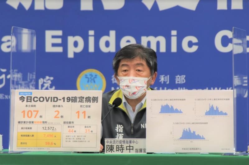 陳時中也表示,除了AZ、莫德納,台灣也透過COVAX平台爭取配發美國生技公司諾瓦瓦克斯研發的蛋白質次單位疫苗。(指揮中心提供)