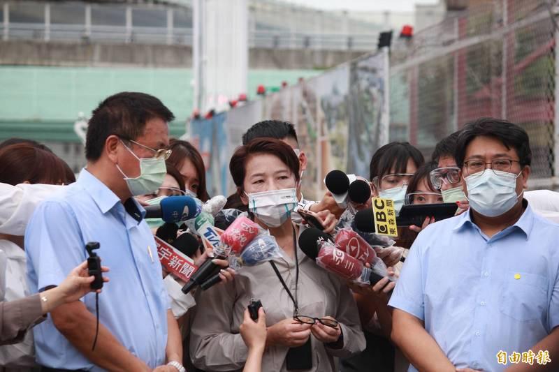 台北市副市長黃珊珊今早表示,因負責人被隔離,完全無法進行相關處理,市府接到通報後立即接手、安排後續,若查明負責人有隱匿將依法開罰。(記者鄭名翔攝)