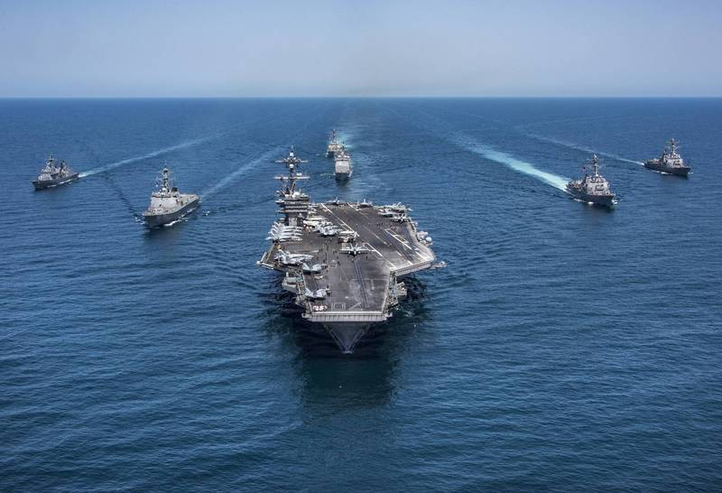 美軍航空母艦卡爾文森號。(美聯社檔案照)