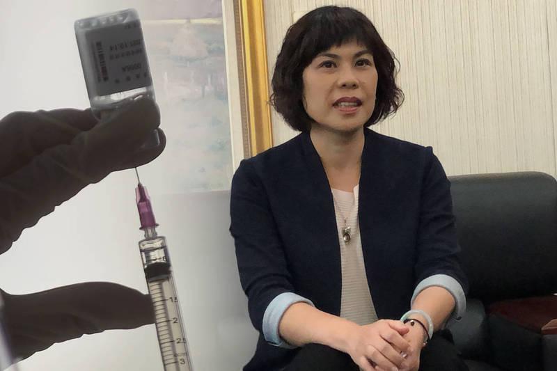 對於疑自肥偷打疫苗的質疑,南檢檢察長葉淑文表達願坦蕩接受司法檢驗。(本報合成)