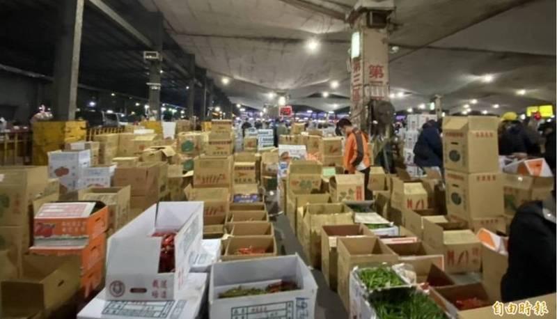 台北農產公司爆出群聚感染,員工、承銷人、攤商已有45人確診。(資料照)