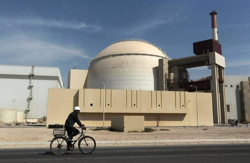 伊朗布什爾核電廠驚傳19日就已關閉,但官方不願說明原因。(美聯社)