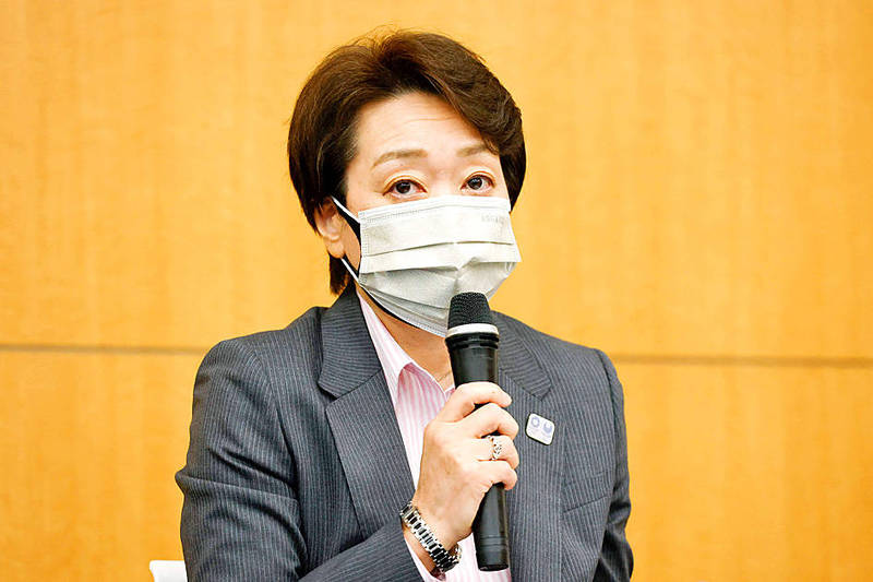 Tokyo 2020 Olympics Organizing Committee president Seiko Hashimoto speaks at a news conference in Tokyo yesterday. Photo: AFP