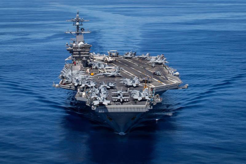 在進行長達17個月的改修後,「卡爾文森號」成為首艘能搭載F-35C戰機與CMV-22B旋翼機的航空母艦。(圖擷自Navy.mil)