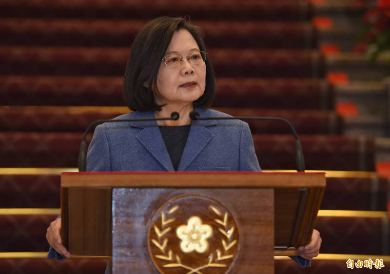 總統蔡英文表示,日本與美國接續捐助台灣疫苗,是好朋友之間的相互幫忙。 (資料照,記者劉信德攝)