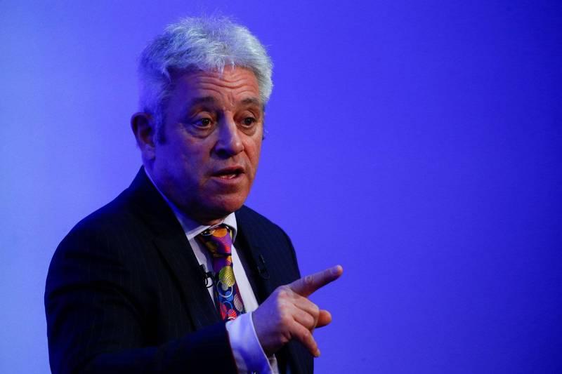 英國下議院前議長貝爾考(John Bercow)近日受訪批評保守黨已變質,自己在前陣子加入對手黨工黨。(路透社)