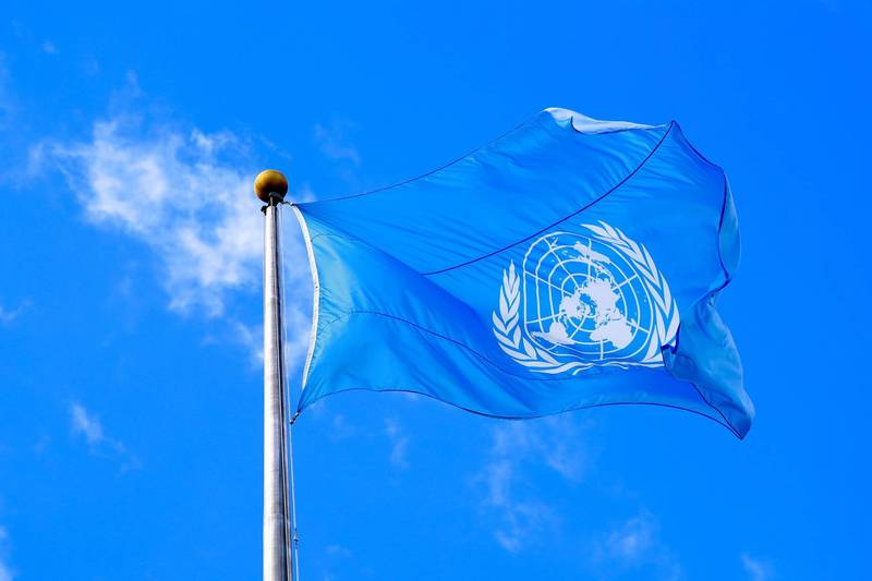 今年2月聯合國特別報告員向日本政府致信表示,日本政府在「學生支援緊急補貼」的制度中「歧視」外國學生,圖為聯合國旗。(路透)