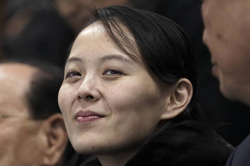 北韓領導人金正恩胞妹,勞動黨副部長金與正今日表示,美方的看法純屬「錯誤期待」。(美聯社)