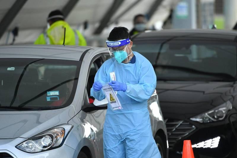 澳洲新南威爾斯州爆發武漢肺炎疫情,今(22日)通報新增10起本土確診病例。(歐新社)